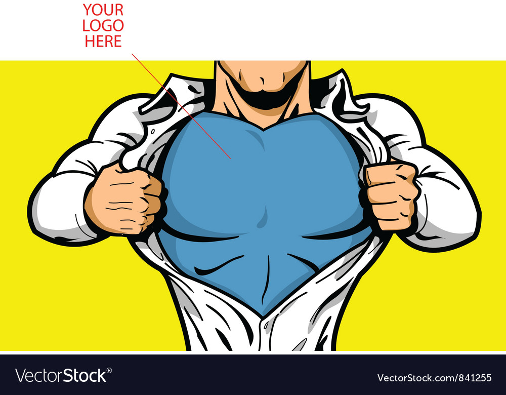 Superhero chest for your logo vector