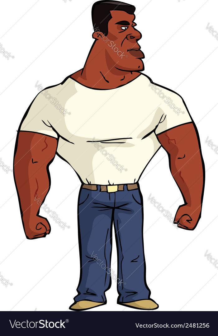 Muscular black man vector | Price: 1 Credit (USD $1)