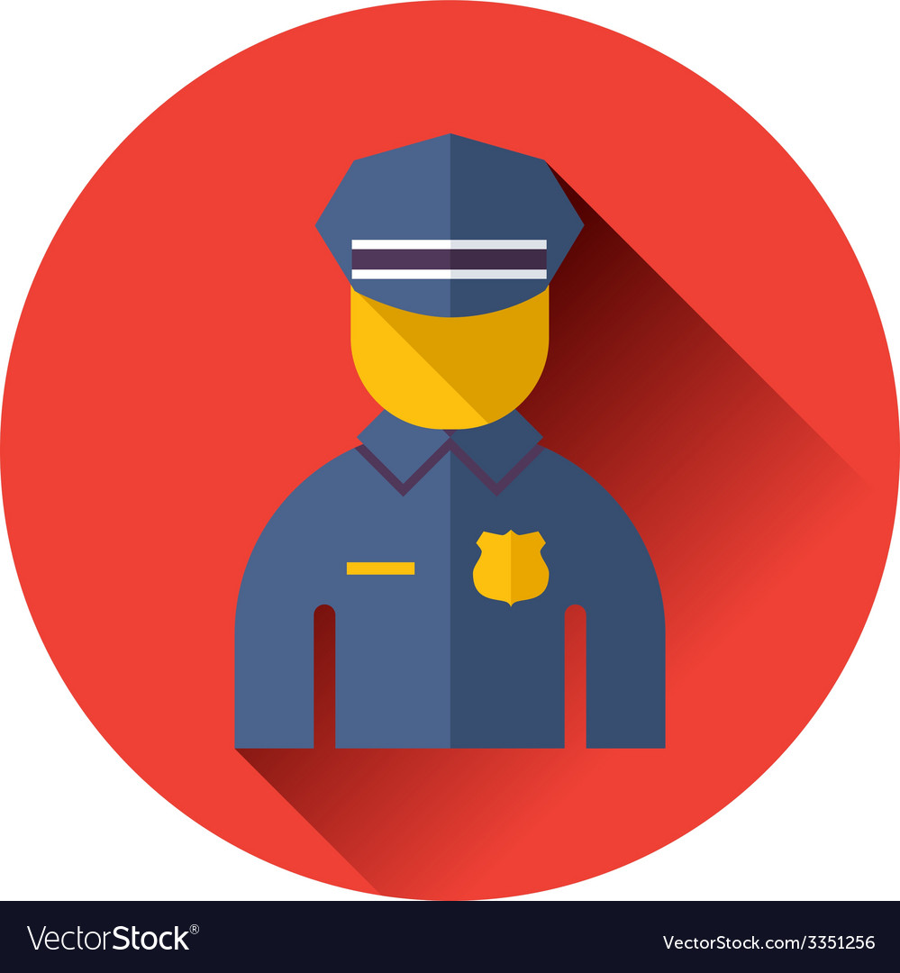Police officer icon vector | Price: 1 Credit (USD $1)