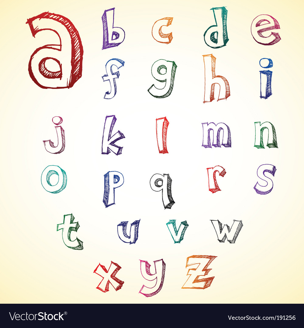 Sketchy alphabet vector | Price: 1 Credit (USD $1)