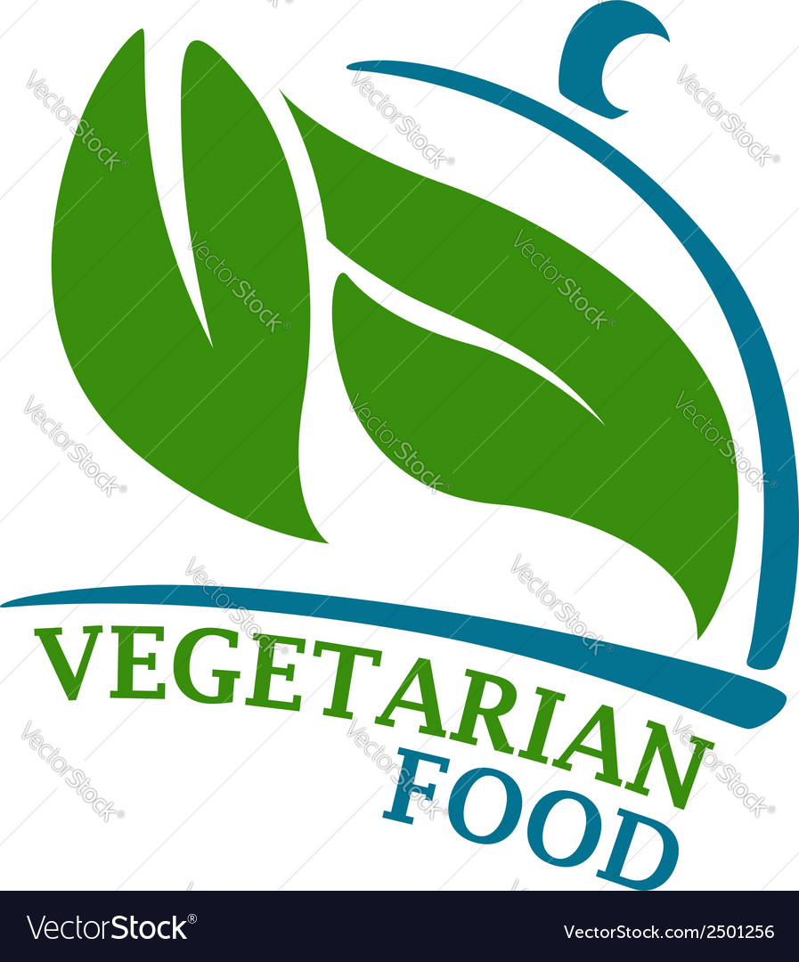 Vegetarian restaurant symbol vector | Price: 1 Credit (USD $1)