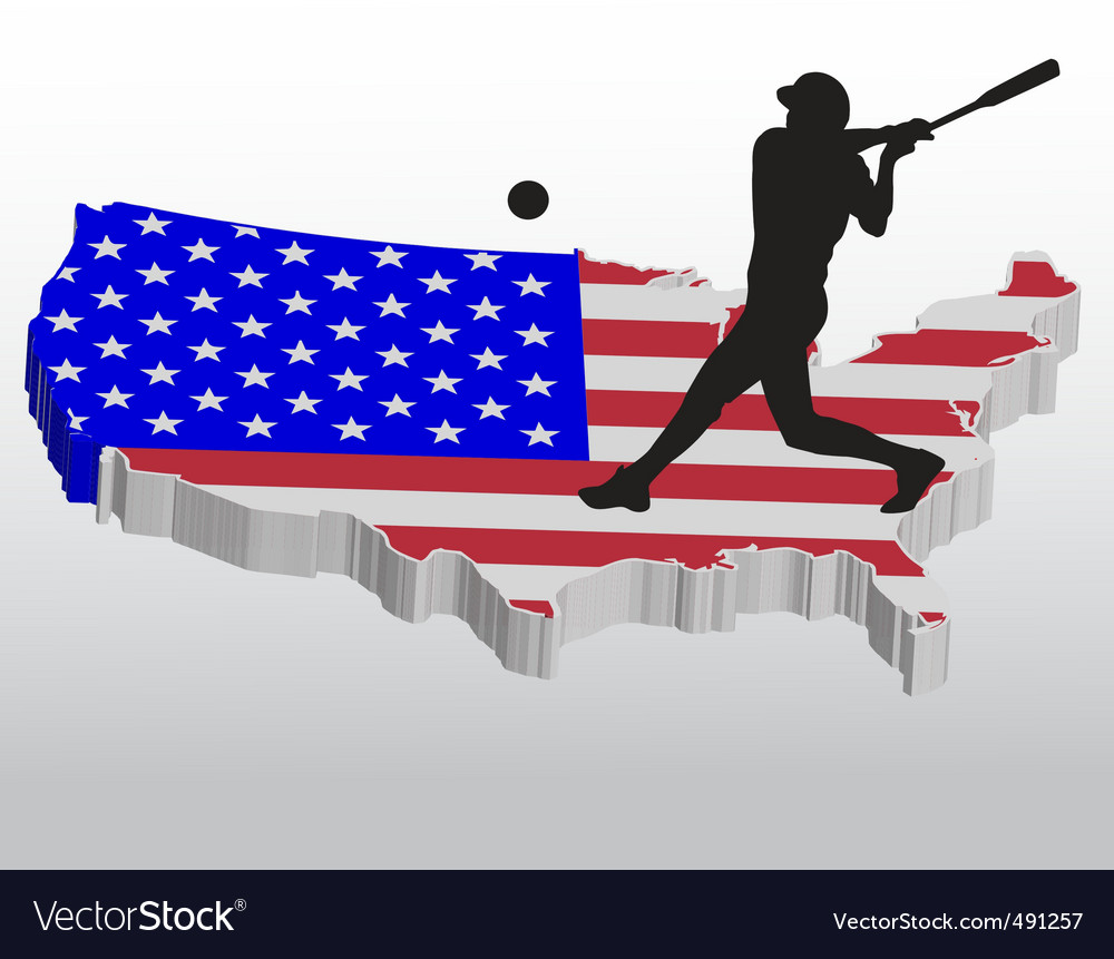 American baseball player vector | Price: 1 Credit (USD $1)