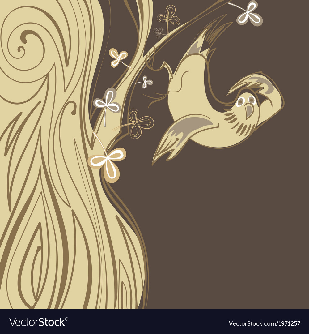 Bird to meet the coming of spring vector | Price: 1 Credit (USD $1)