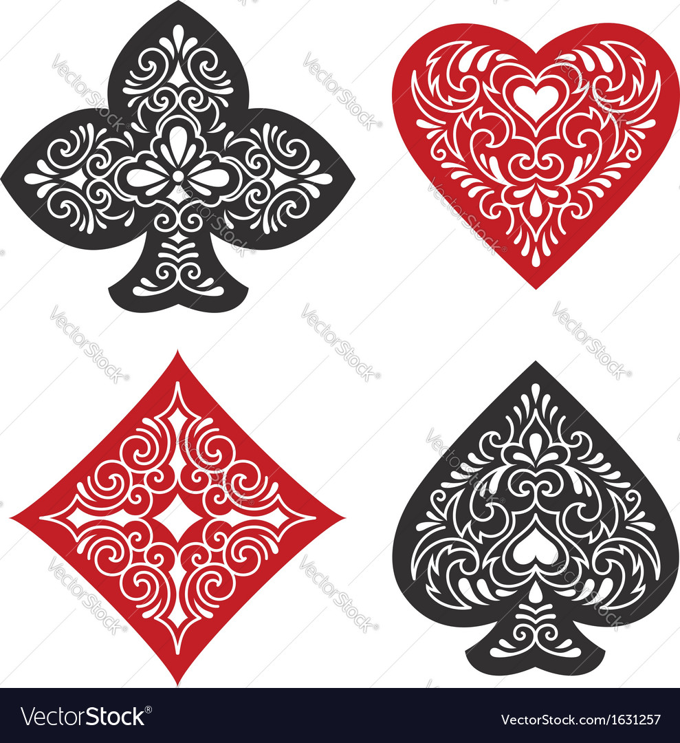Card suits vector | Price: 1 Credit (USD $1)