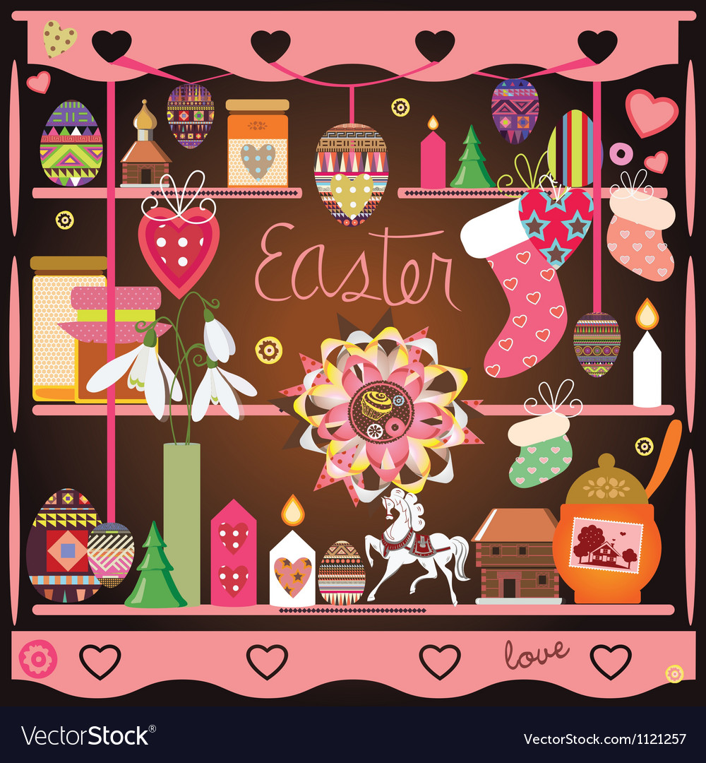 Easter elements composition vector | Price: 1 Credit (USD $1)