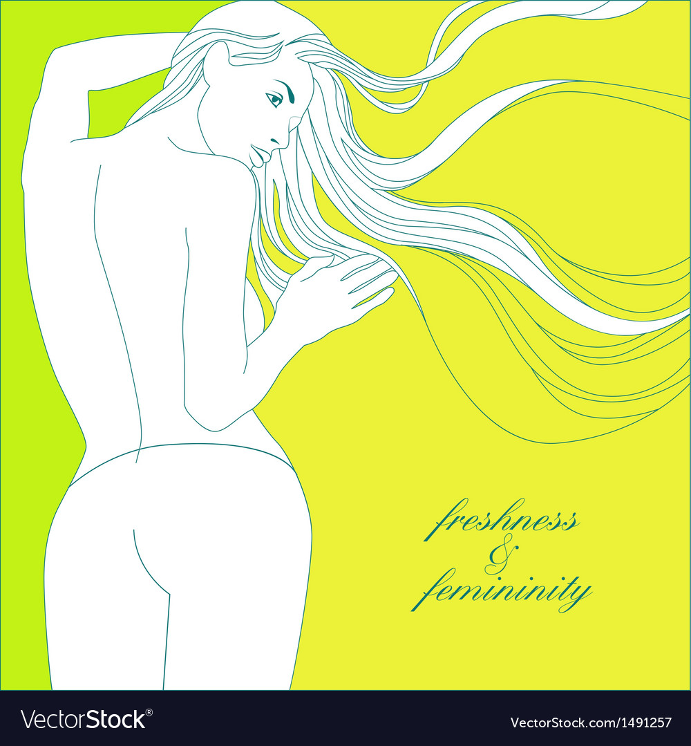 Freshness and femininity vector | Price: 1 Credit (USD $1)