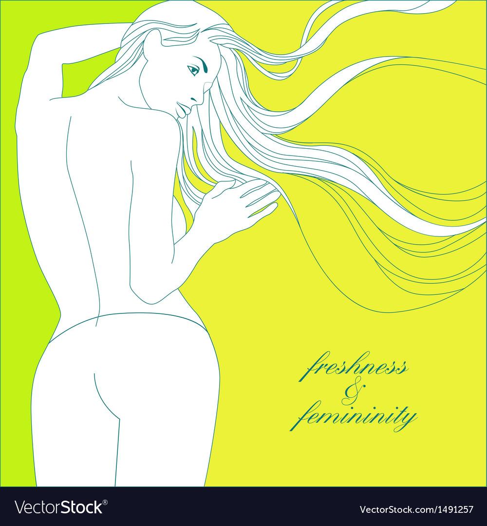 Freshness and femininity vector | Price: 1 Credit (USD $1)