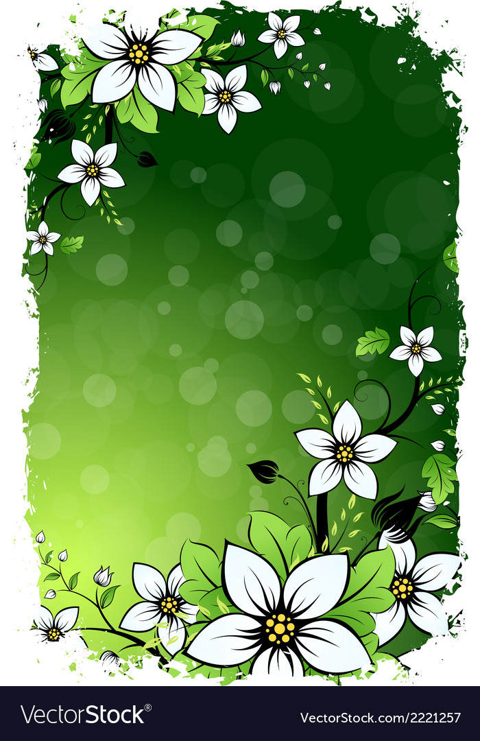 Grungy floral background vector | Price: 1 Credit (USD $1)
