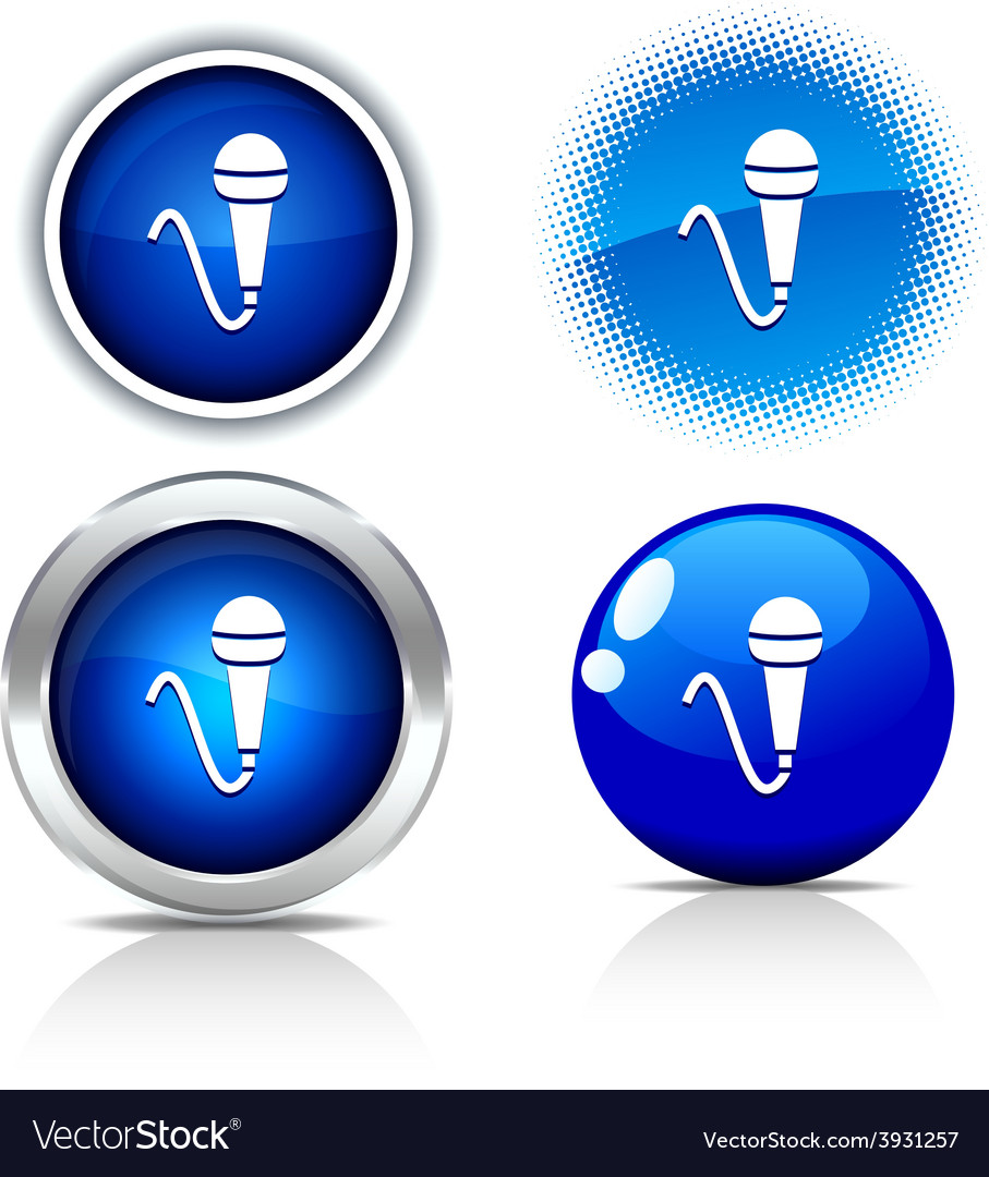 Mic buttons vector | Price: 1 Credit (USD $1)