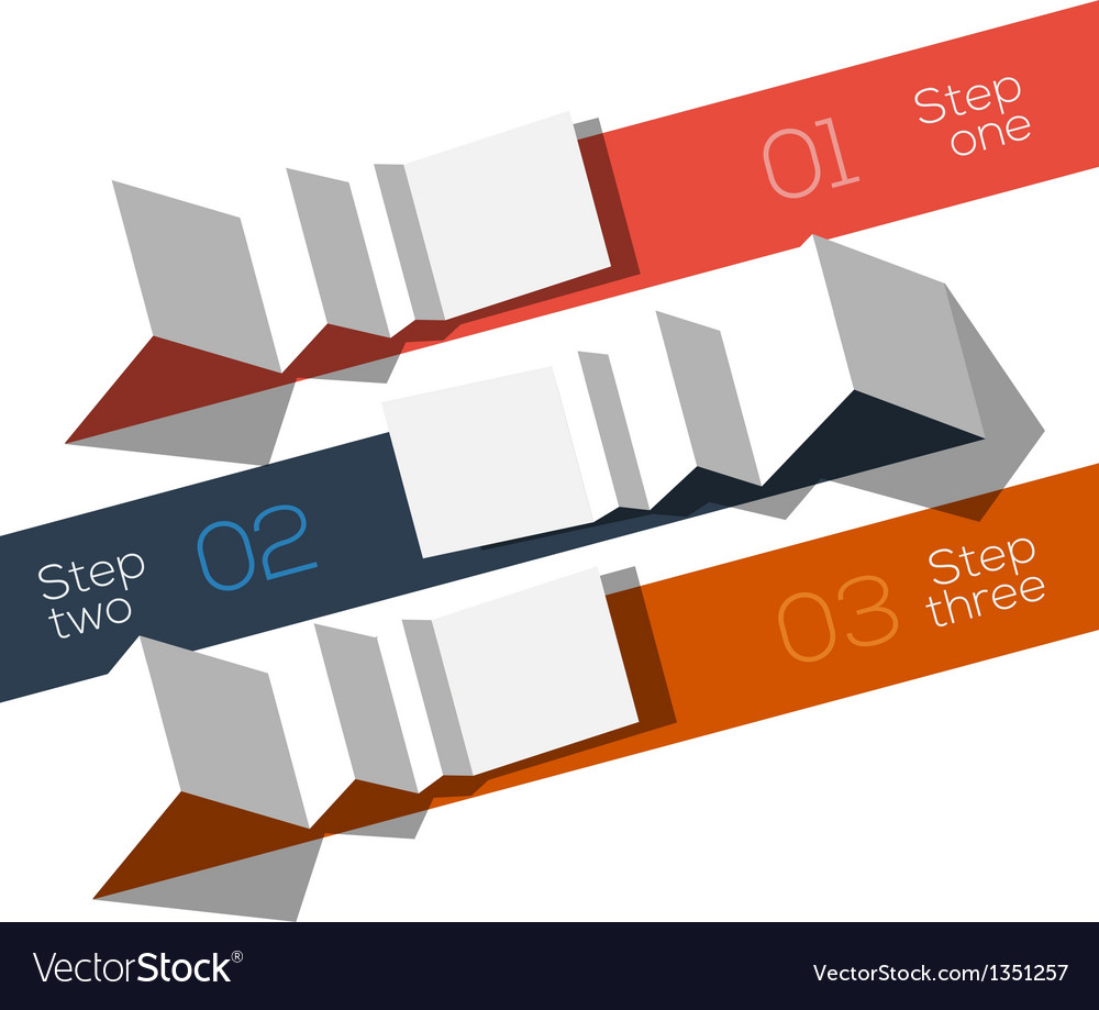 Modern design info graphic template origami styled vector | Price: 1 Credit (USD $1)