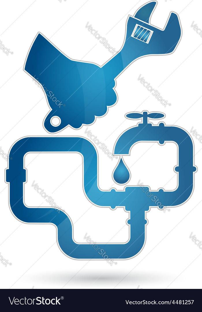 Repair plumbing vector | Price: 1 Credit (USD $1)