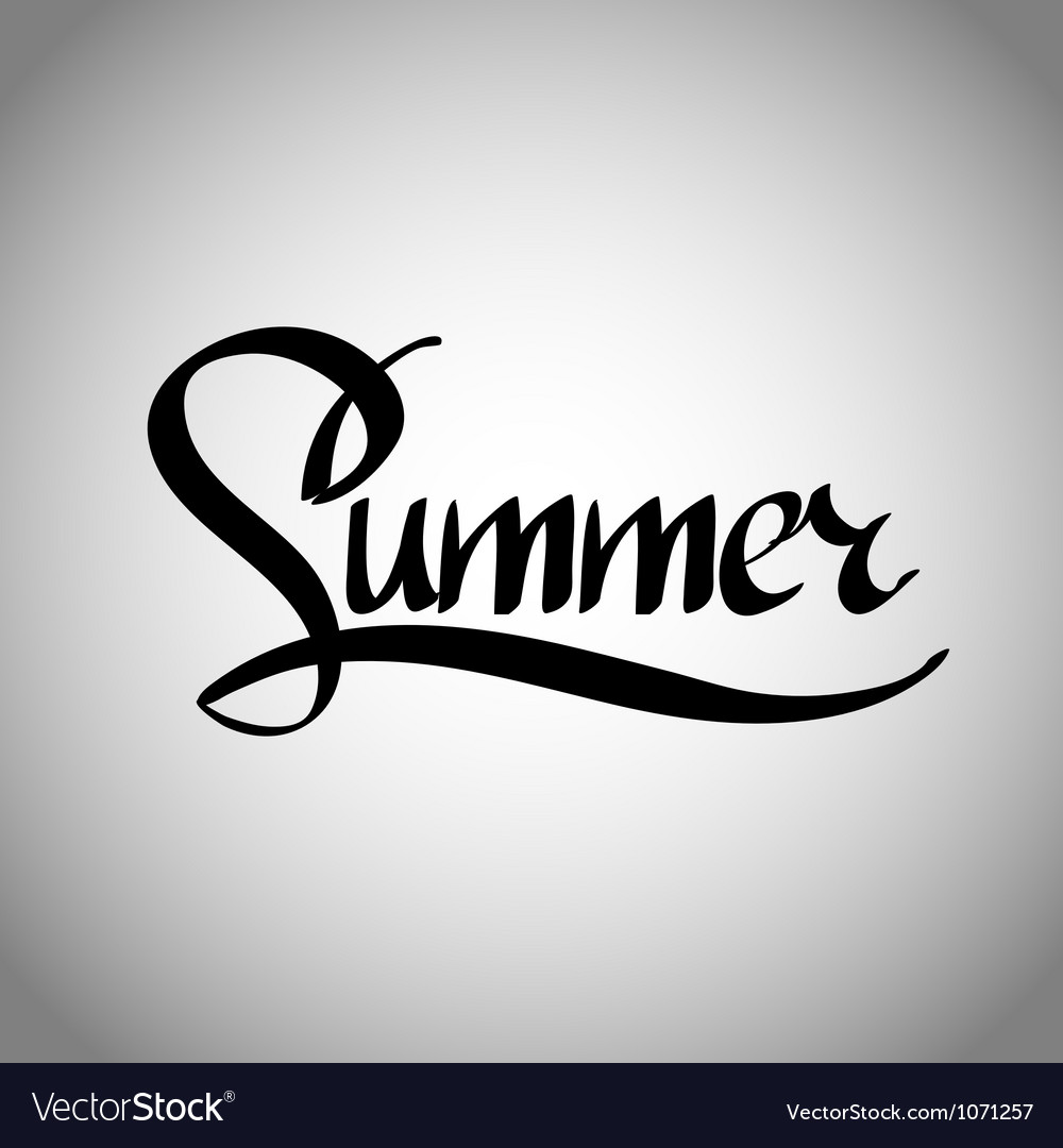 Summer hand lettering - handmade calligraphy vector | Price: 1 Credit (USD $1)