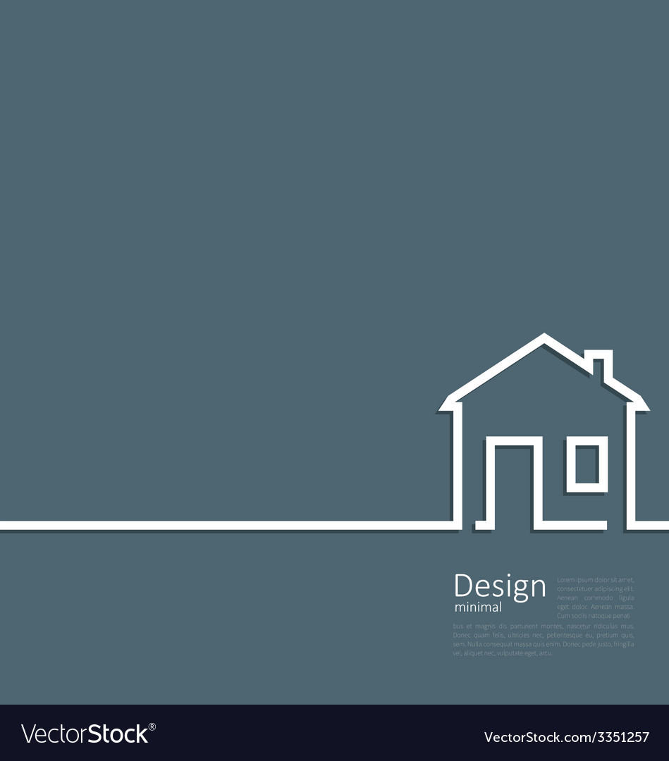 Web template house logo in minimal flat style vector | Price: 1 Credit (USD $1)