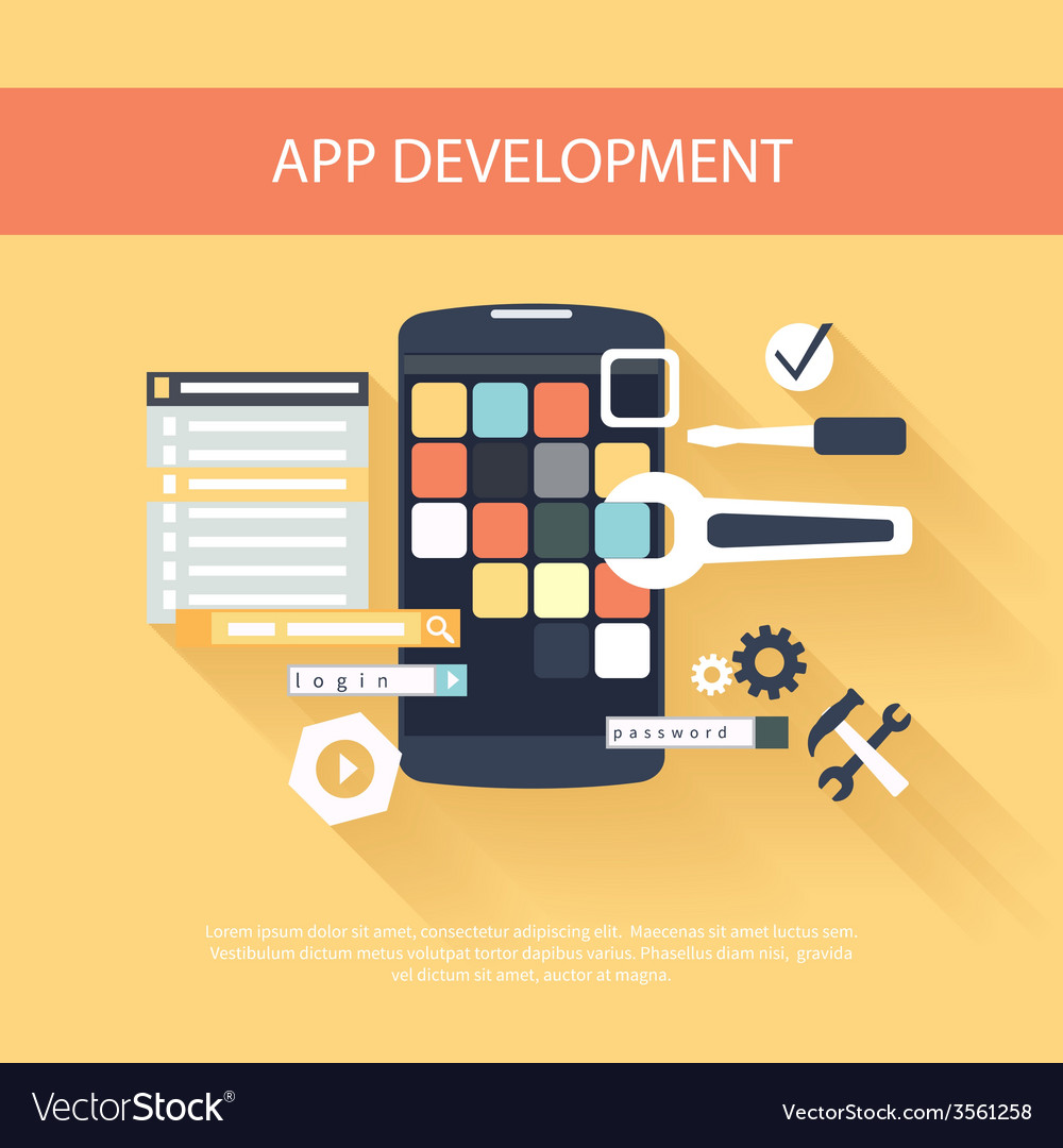 App development instruments concept vector | Price: 1 Credit (USD $1)