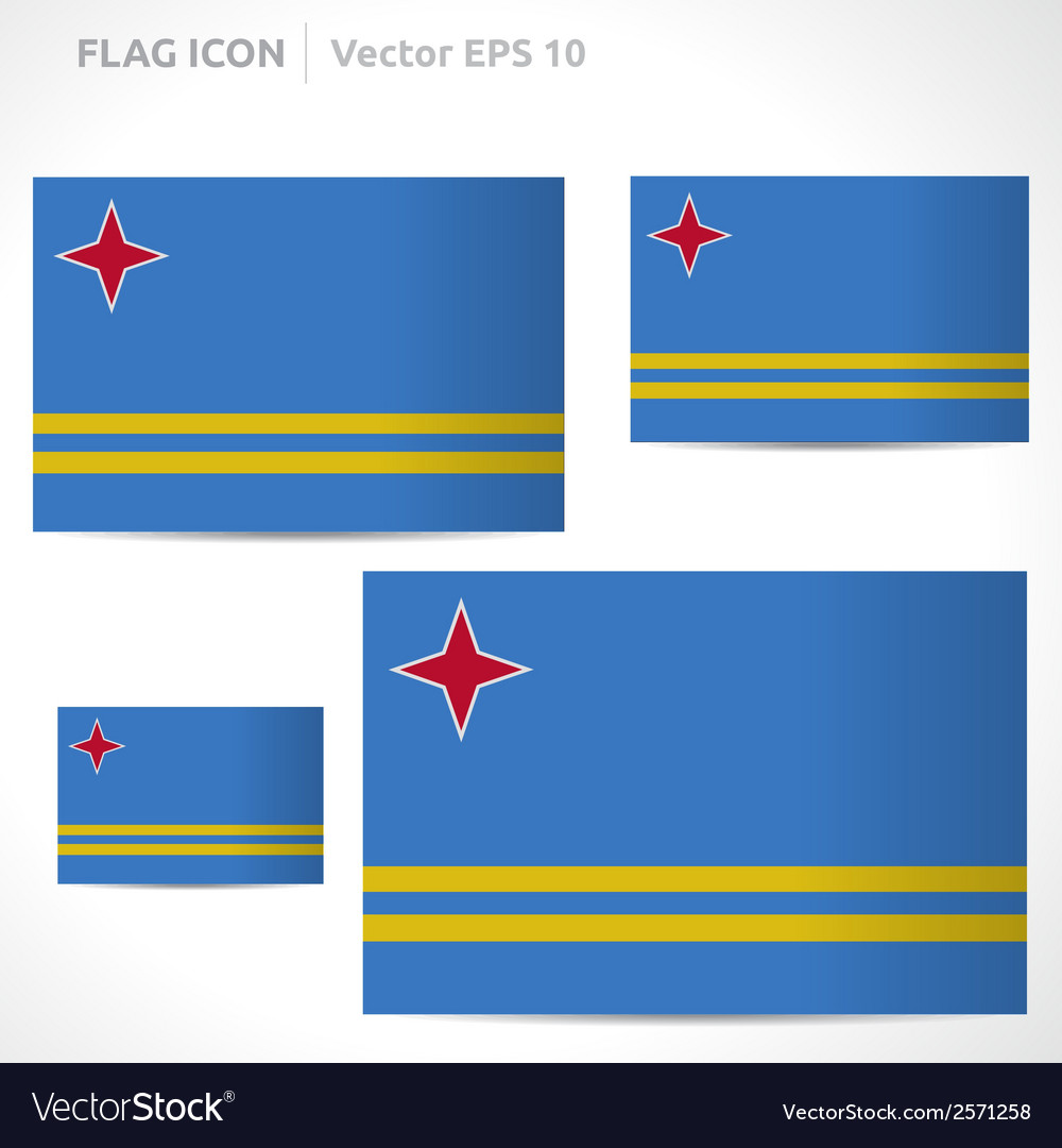 Aruba flag template vector | Price: 1 Credit (USD $1)