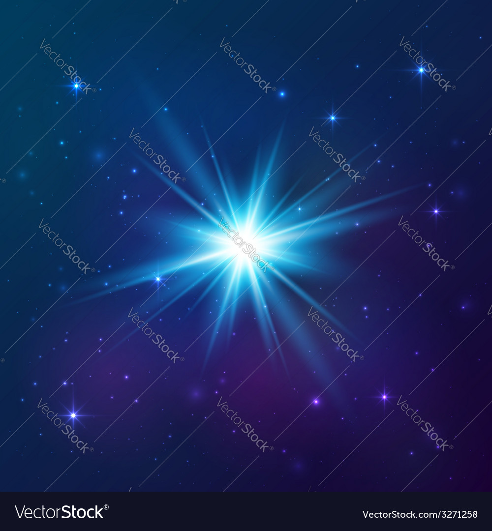 Blue shining star vector | Price: 1 Credit (USD $1)