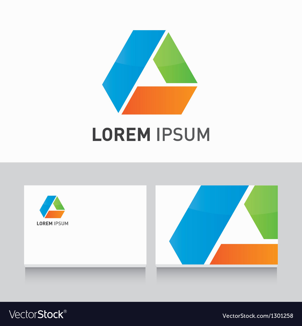 Business card company template with logo design vector | Price: 1 Credit (USD $1)