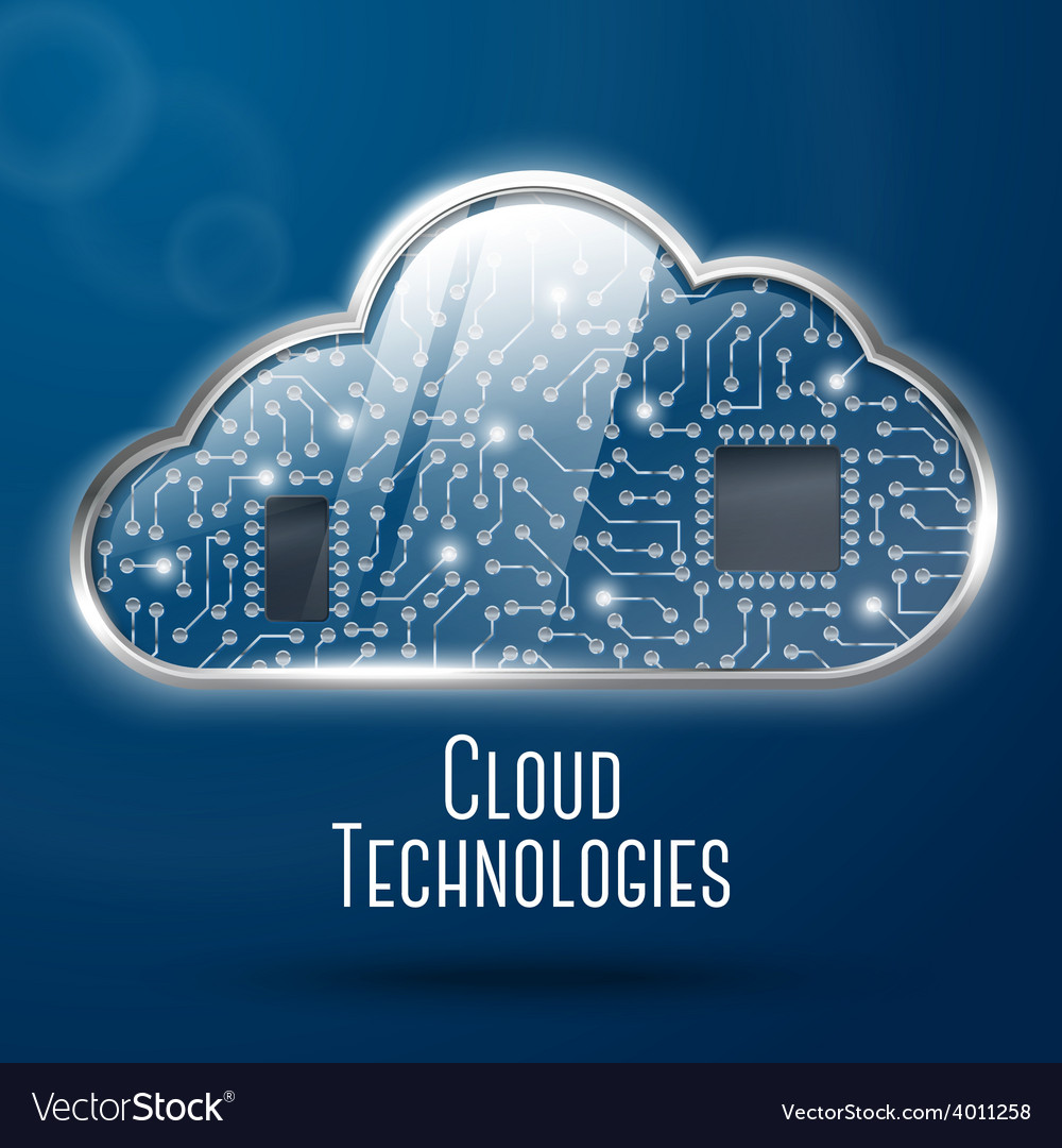 Cloud computing technology concept vector | Price: 1 Credit (USD $1)