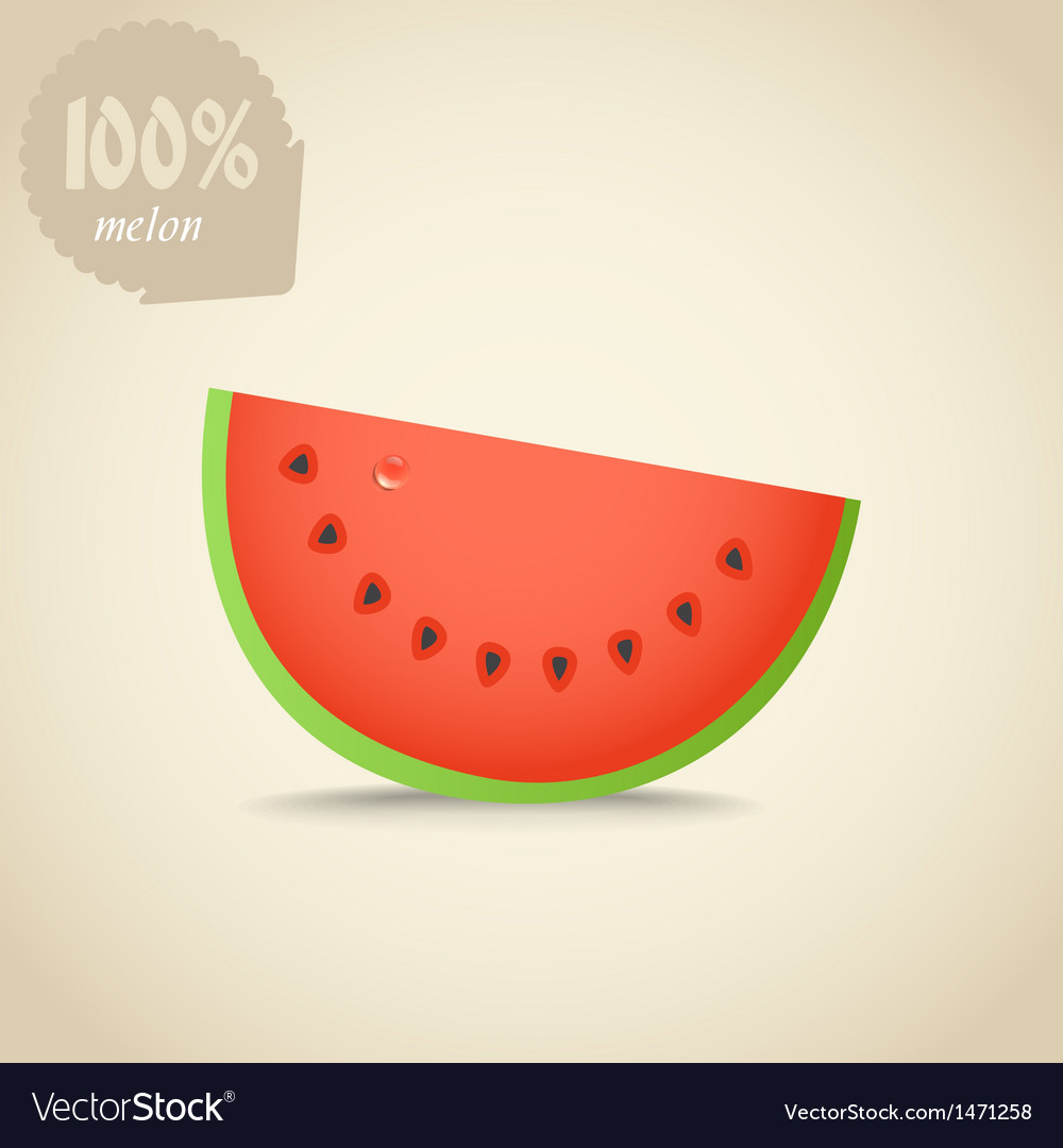 Cute fresh red water melon vector | Price: 1 Credit (USD $1)