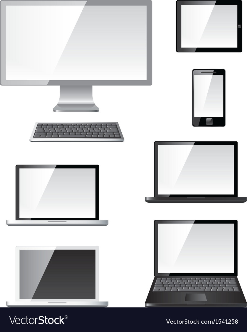 Devices set vector | Price: 1 Credit (USD $1)