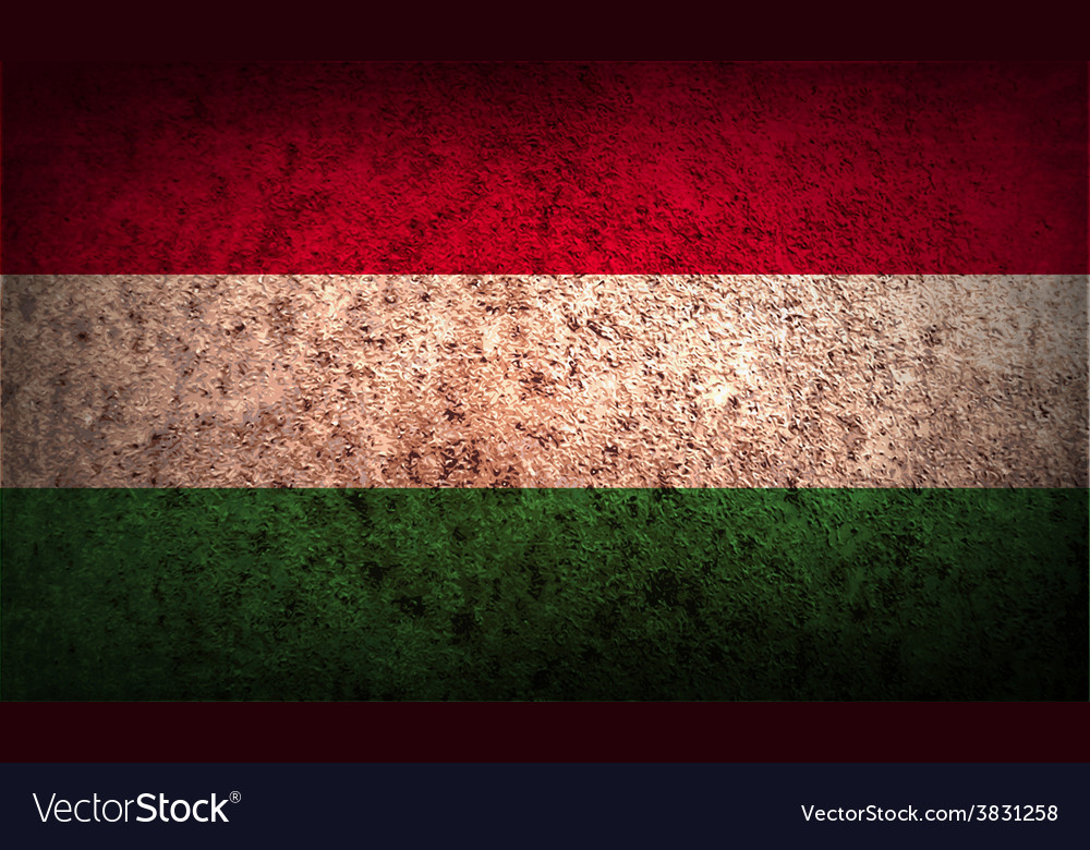 Flag of hungary with old texture vector | Price: 1 Credit (USD $1)
