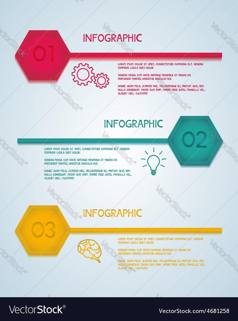 Hexagon infographic template vector | Price: 1 Credit (USD $1)