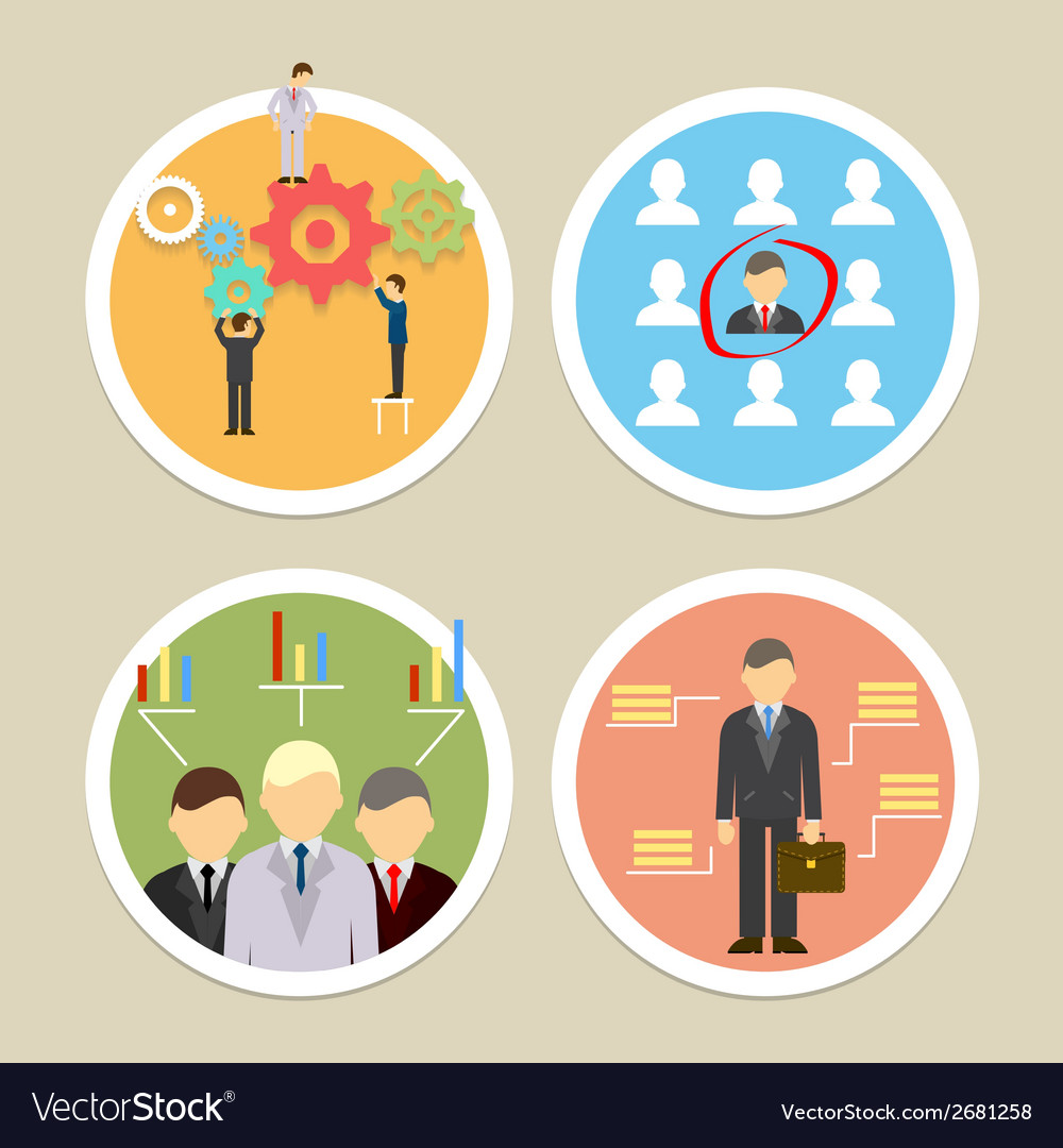 Human resources icons vector | Price: 1 Credit (USD $1)