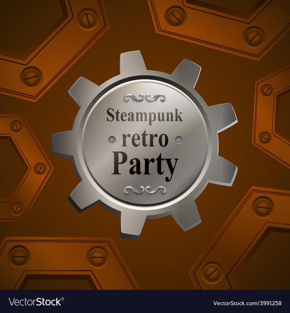 Invitation flyer on retro steampunk party vector   Price: 1 Credit (USD $1)