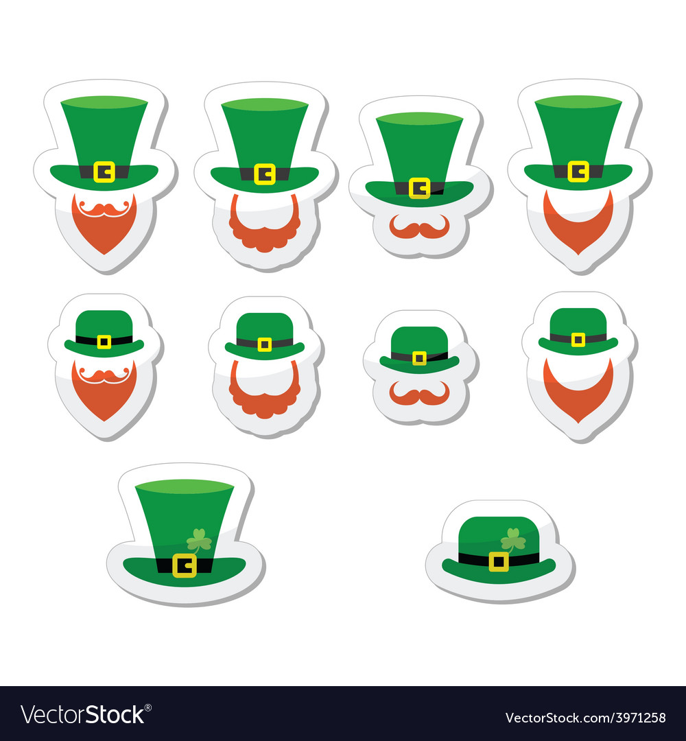 Leprechaun character for st patricks day in irela vector | Price: 1 Credit (USD $1)