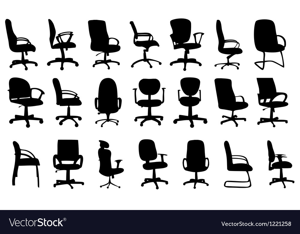 Office chairs silhouettes vector | Price: 1 Credit (USD $1)