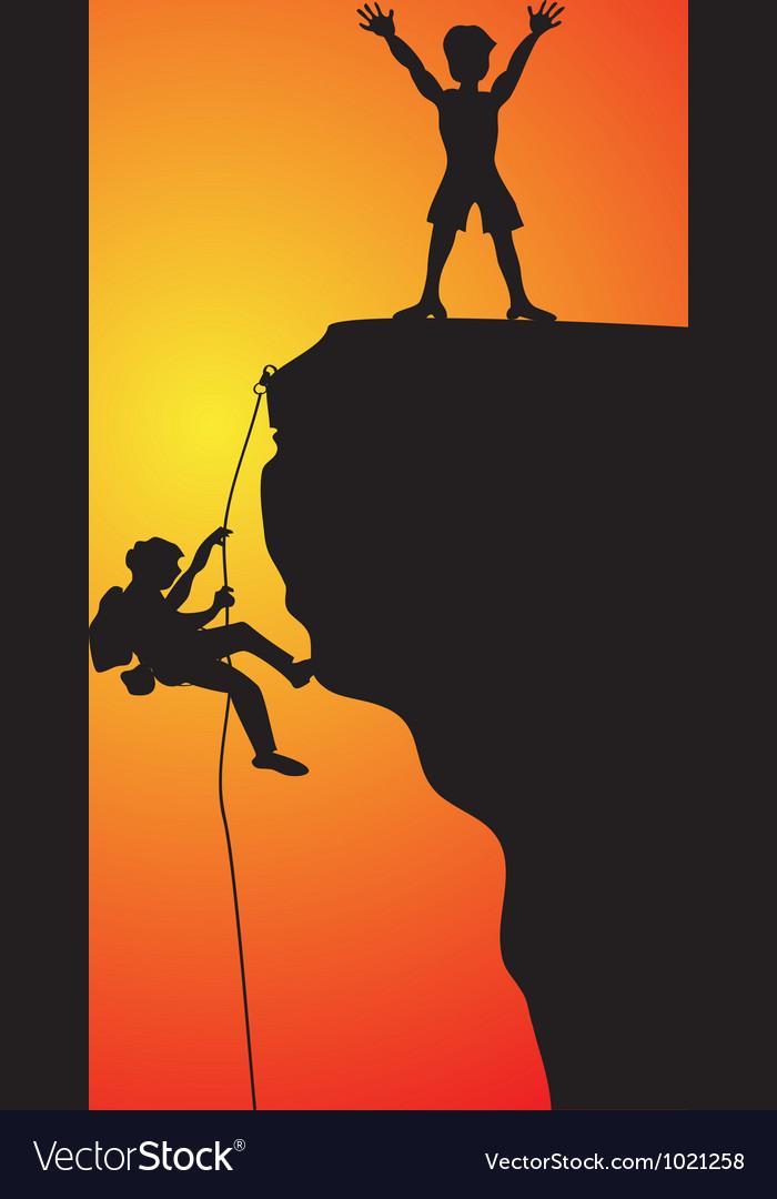 Rock climbing vector | Price: 1 Credit (USD $1)