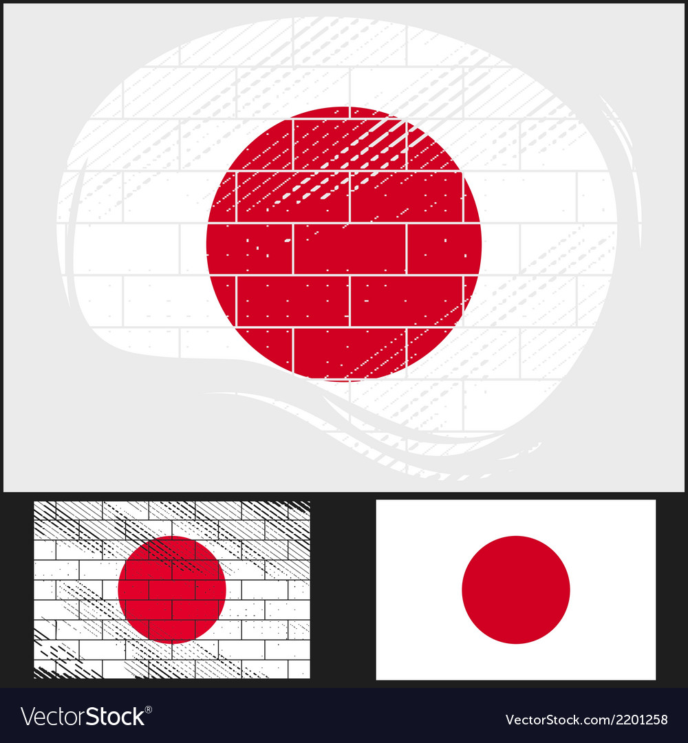 Scratched flag of japan vector | Price: 3 Credit (USD $3)