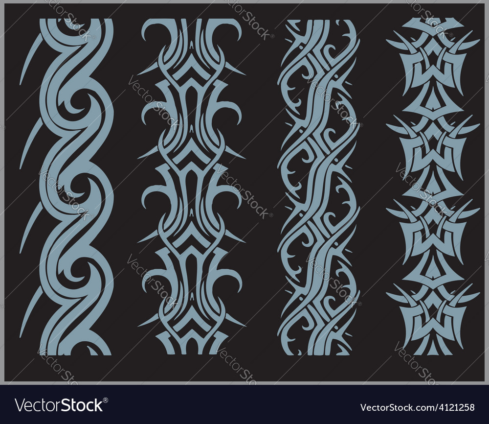 Seamles borders and bracelets - set vector | Price: 1 Credit (USD $1)