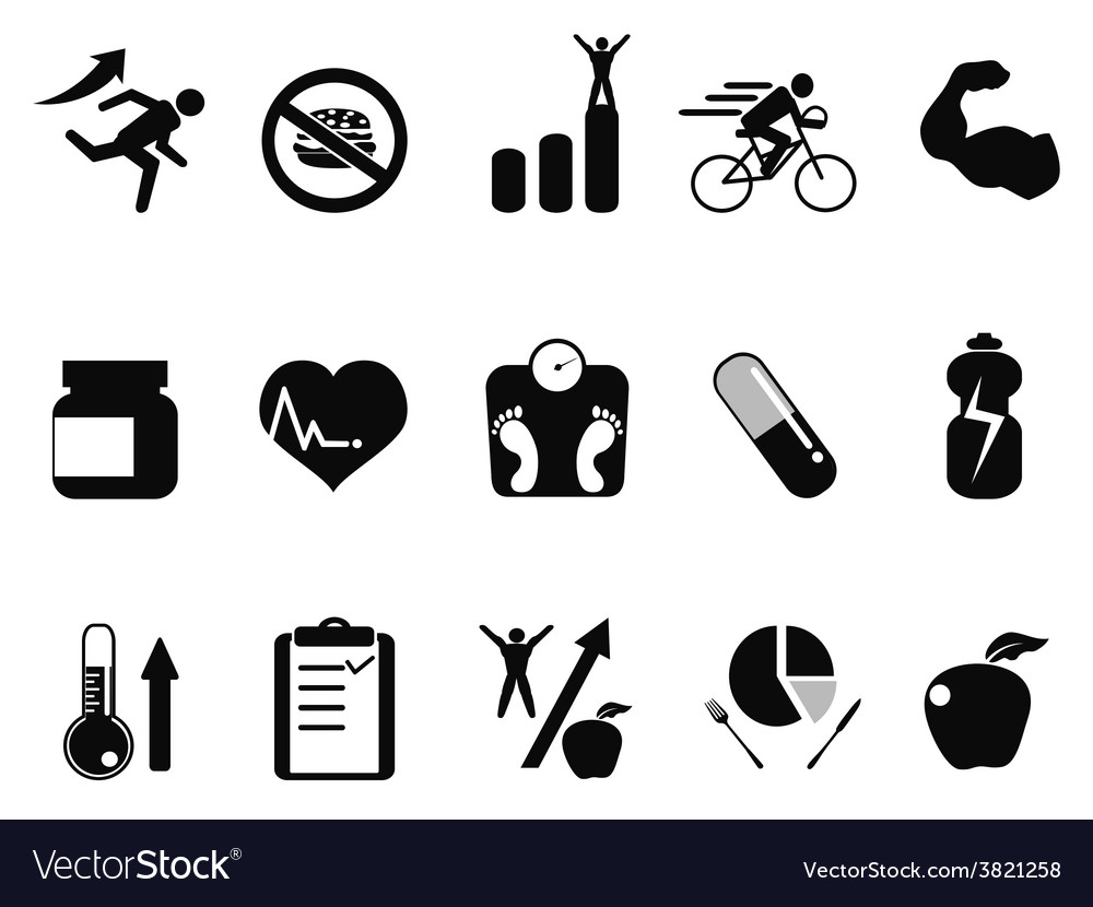 Sport performance icons set vector | Price: 1 Credit (USD $1)