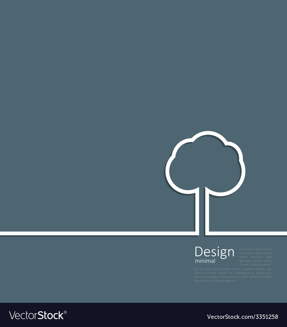 Tree standing alone symbol design webpage logo vector | Price: 1 Credit (USD $1)