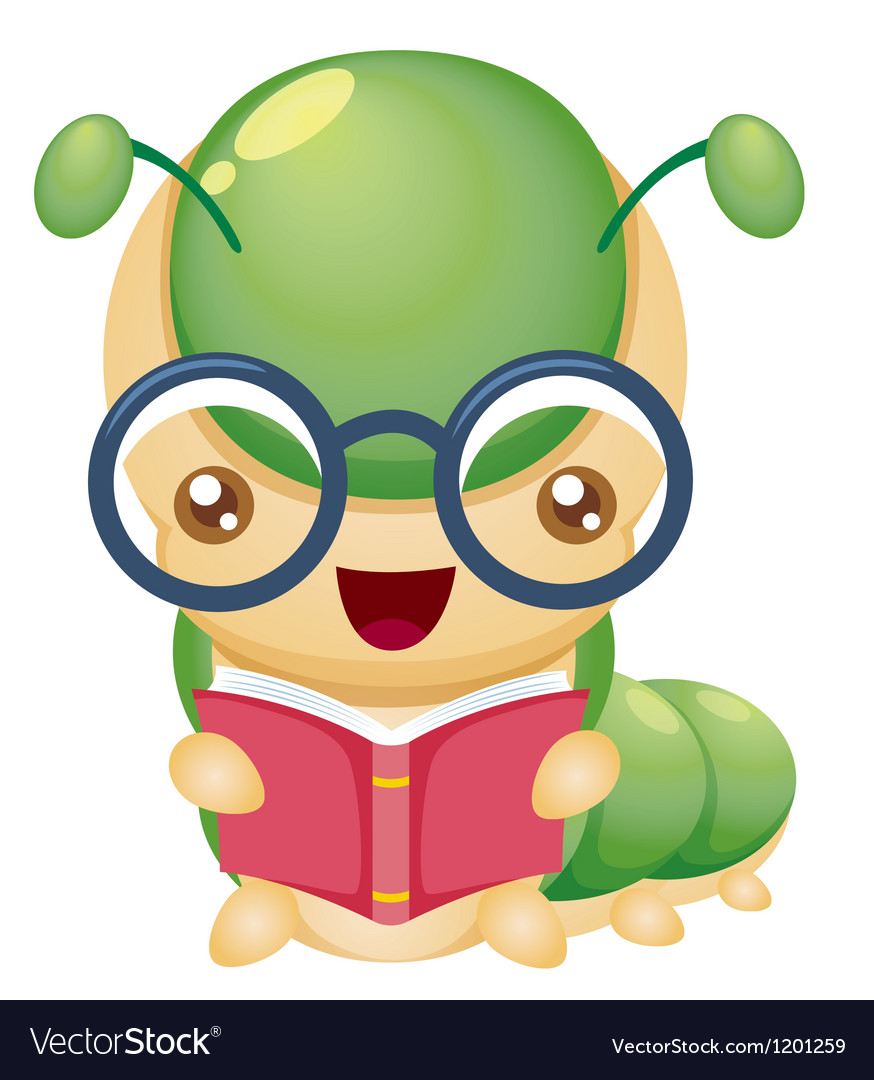 Book worm vector | Price: 1 Credit (USD $1)