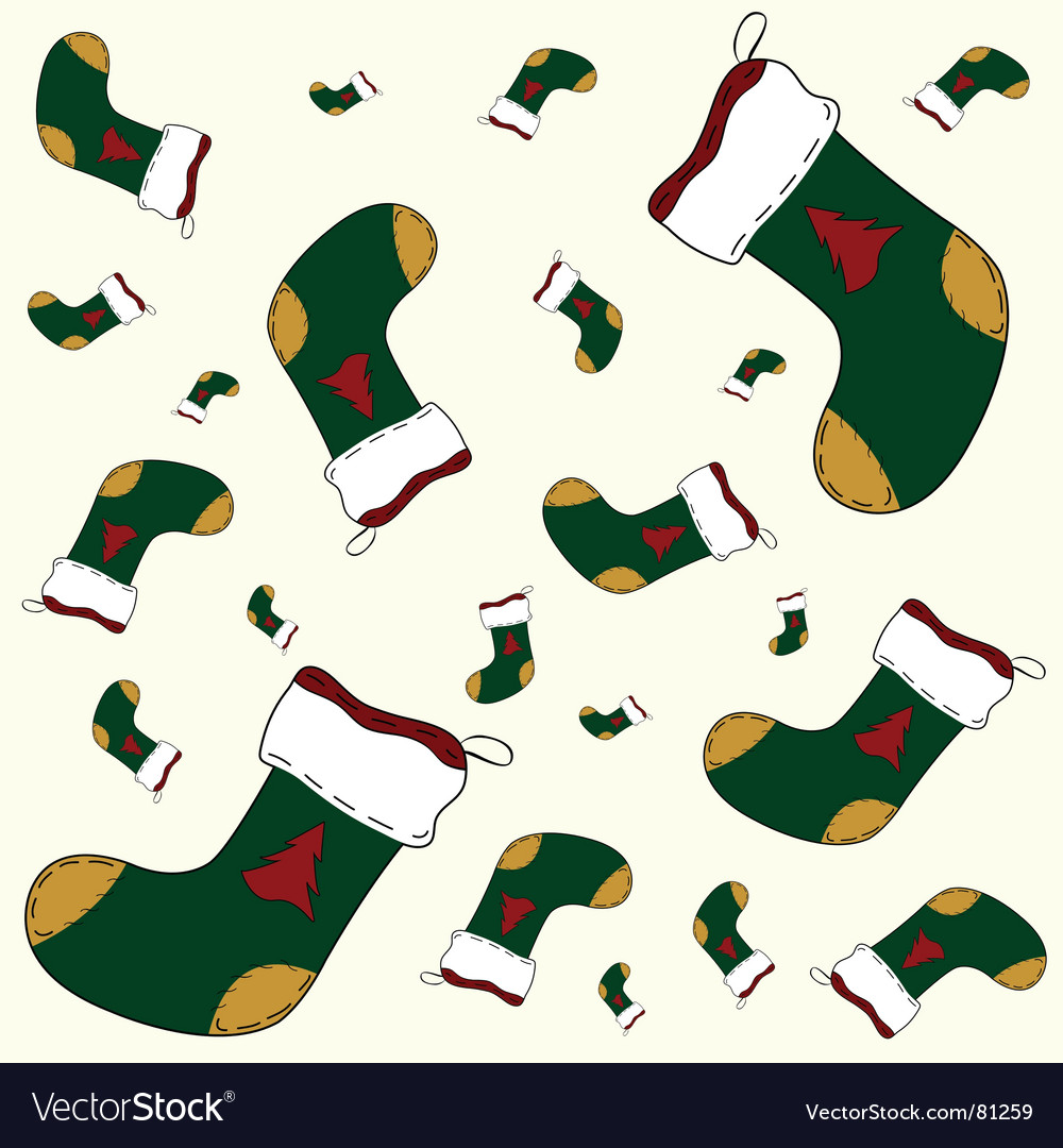 Christmas sock pattern vector | Price: 1 Credit (USD $1)
