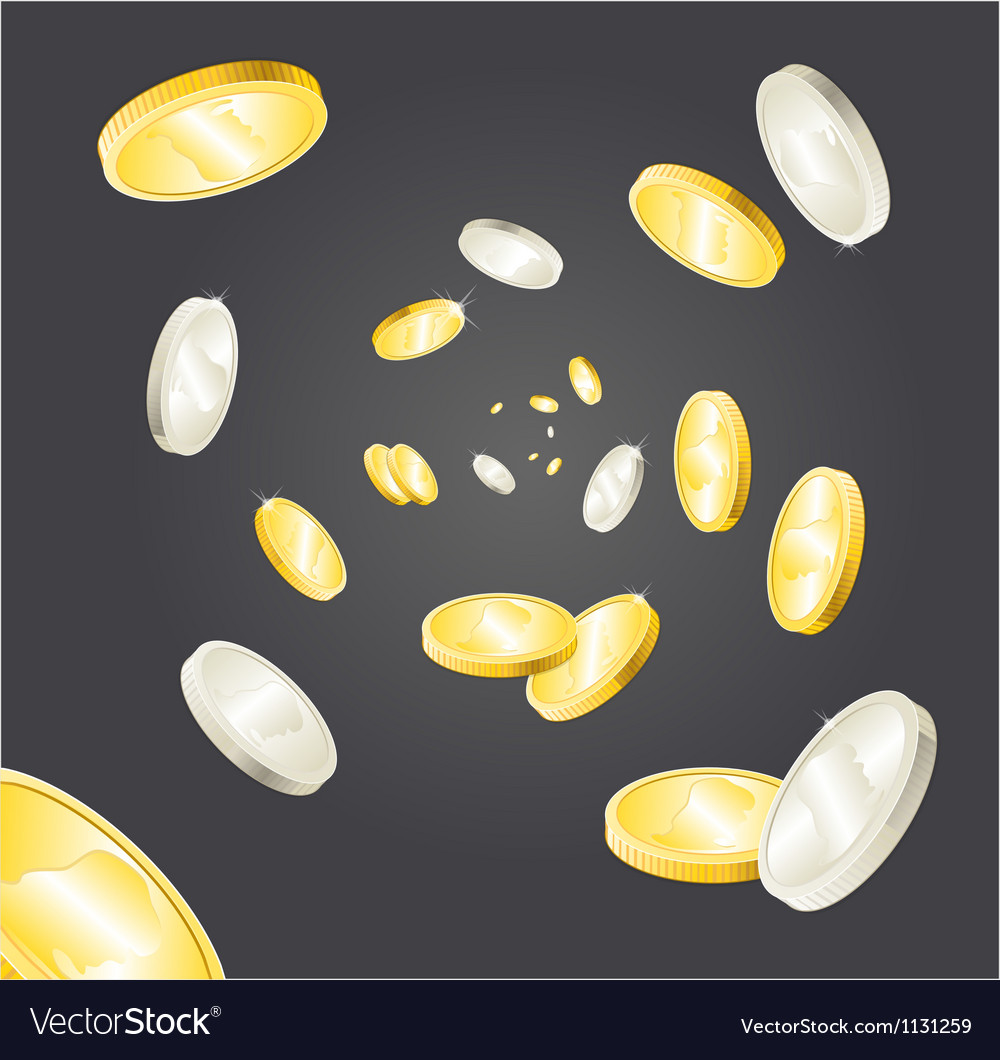 Coins rain vector | Price: 1 Credit (USD $1)