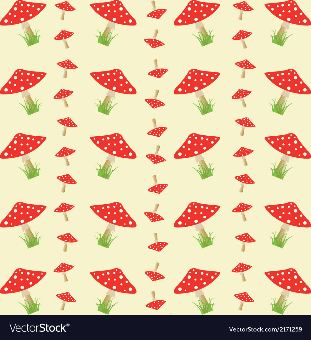 Colorful pattern with amanitas vector | Price: 1 Credit (USD $1)