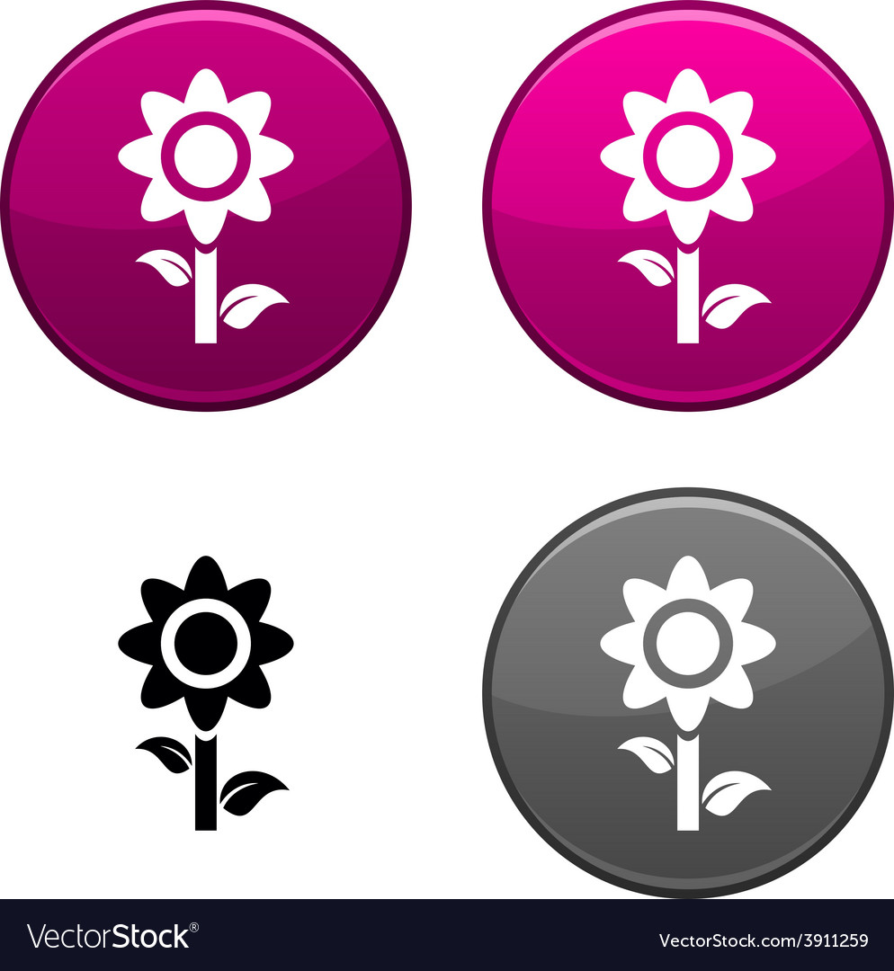Flower button vector | Price: 1 Credit (USD $1)