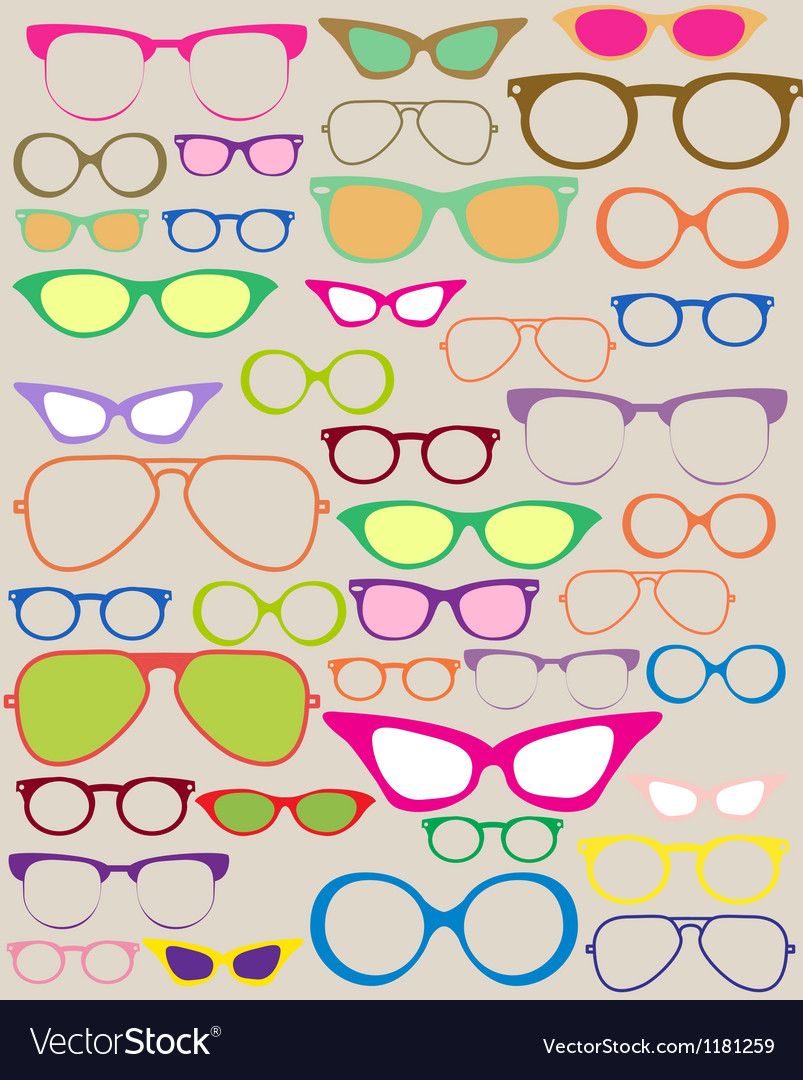 Glasses vector | Price: 1 Credit (USD $1)