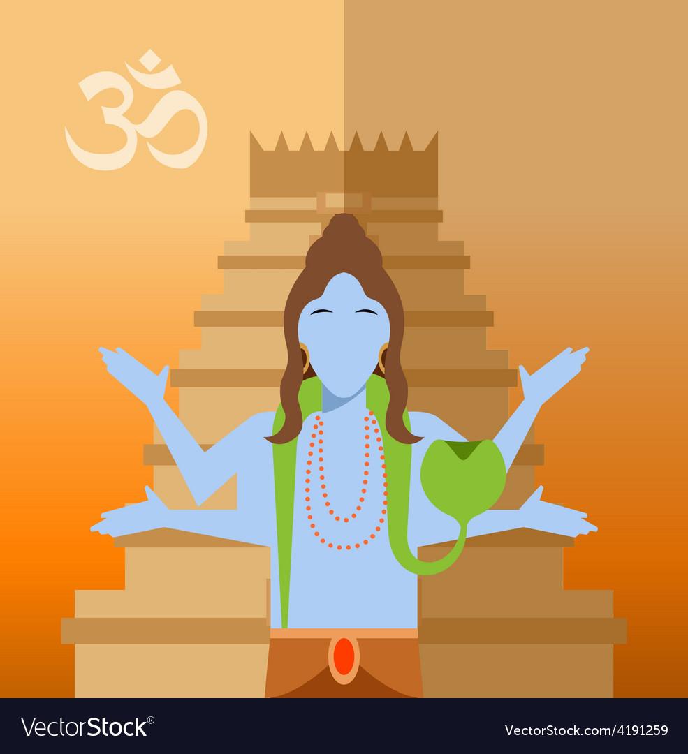Hindu flat icon vector | Price: 1 Credit (USD $1)