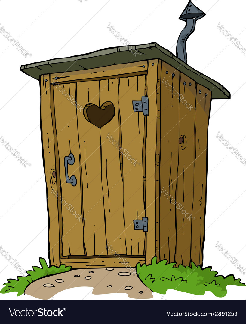 Rural toilet vector | Price: 1 Credit (USD $1)