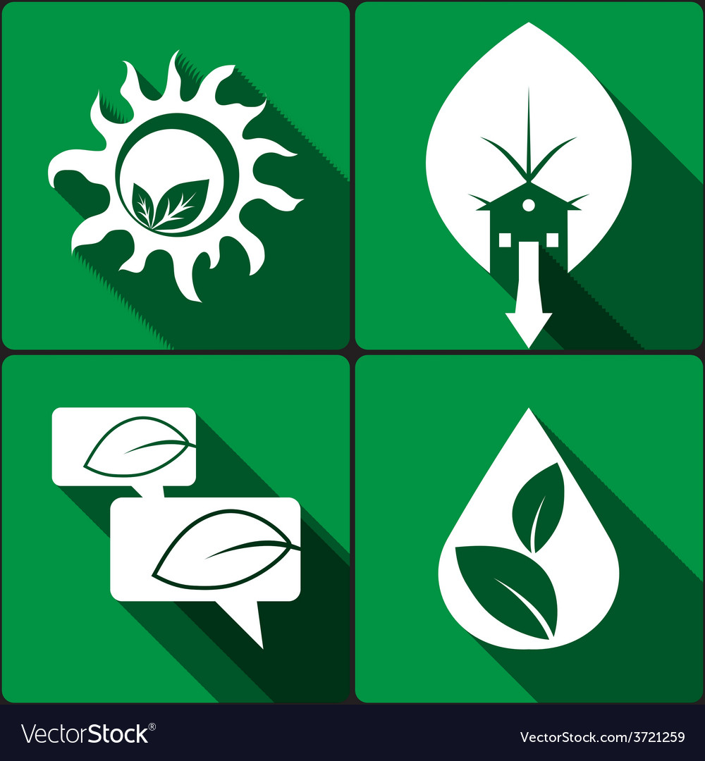 Set of stickers icons environmental protection vector | Price: 1 Credit (USD $1)
