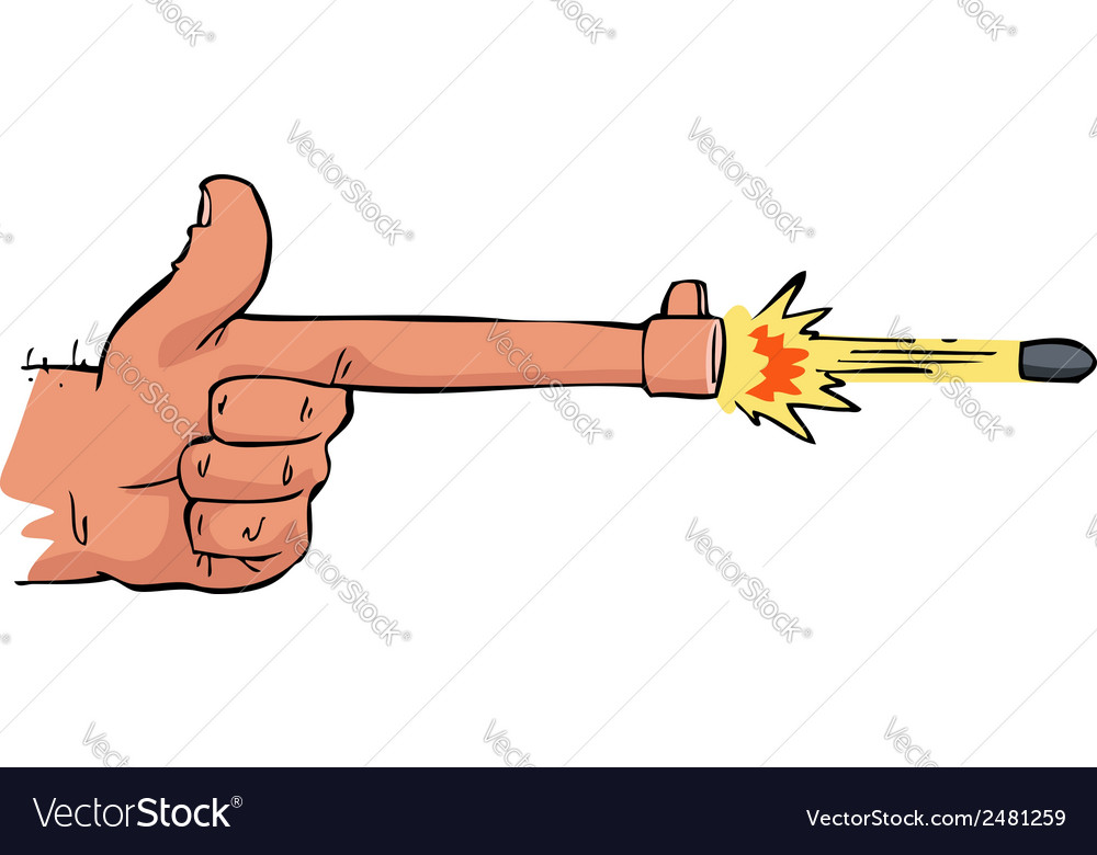 Shooting hand vector   Price: 1 Credit (USD $1)