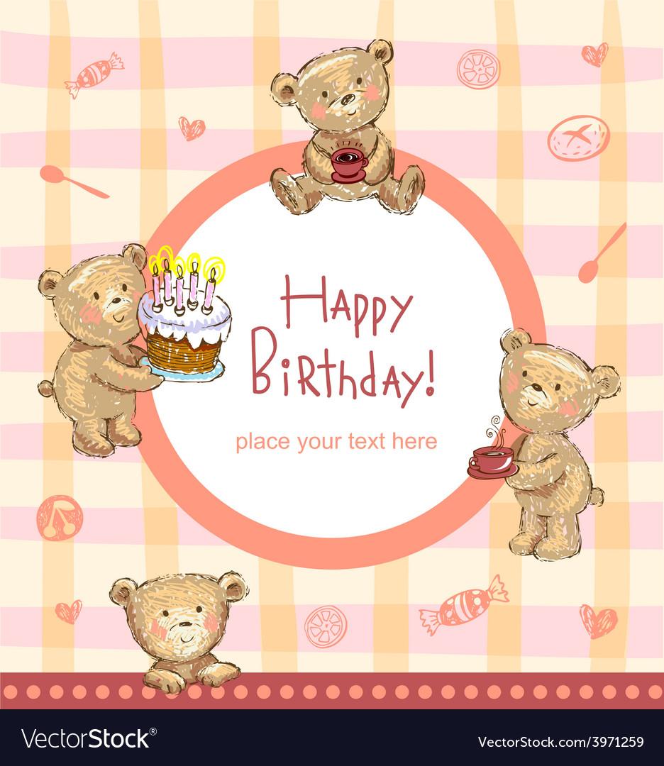 Sweet birthday greetings vector | Price: 1 Credit (USD $1)