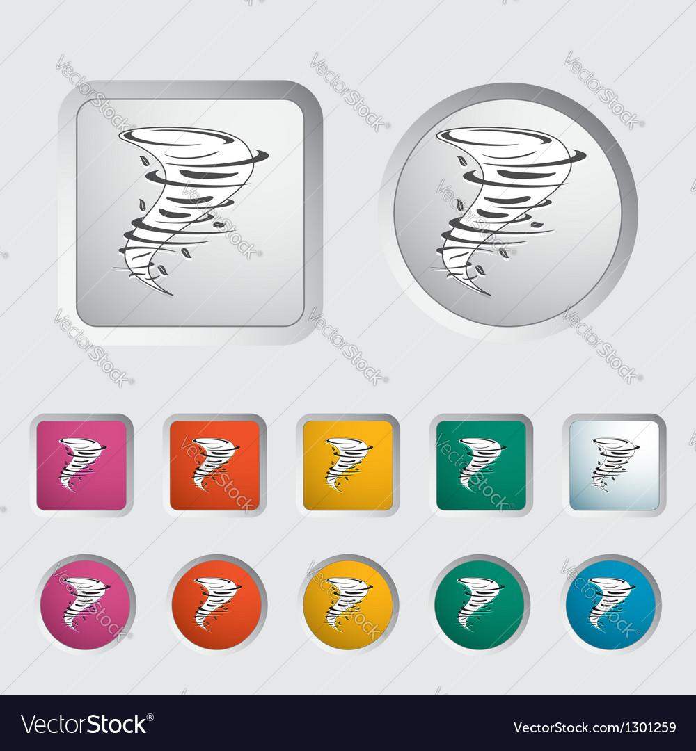 Tornado icon vector | Price: 1 Credit (USD $1)
