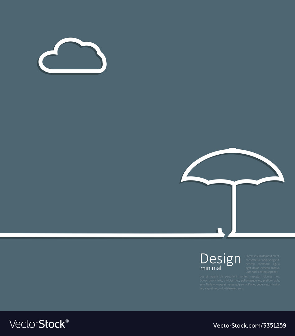 Umbrella protection it weather the concept of vector | Price: 1 Credit (USD $1)