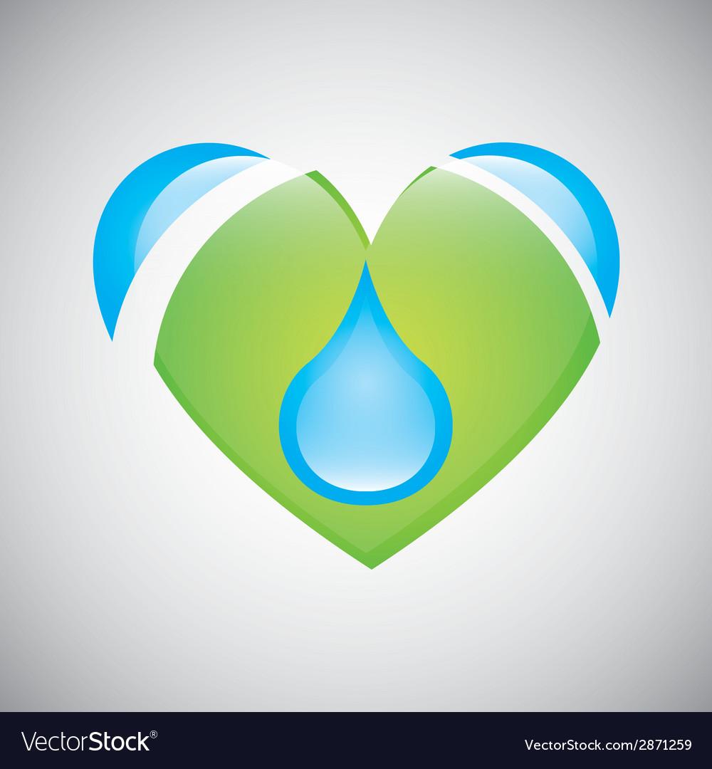 Water heart vector | Price: 1 Credit (USD $1)
