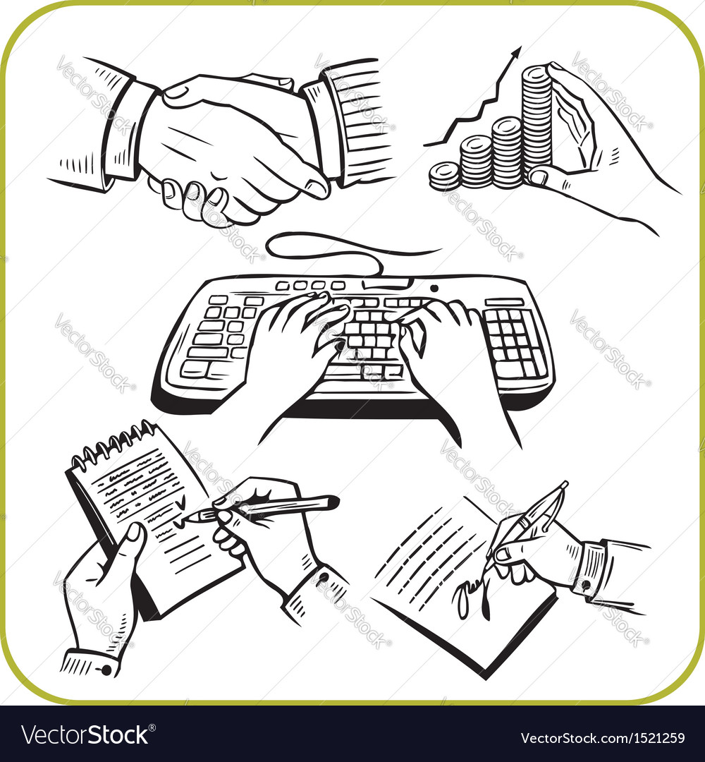 Work hands set vector | Price: 1 Credit (USD $1)